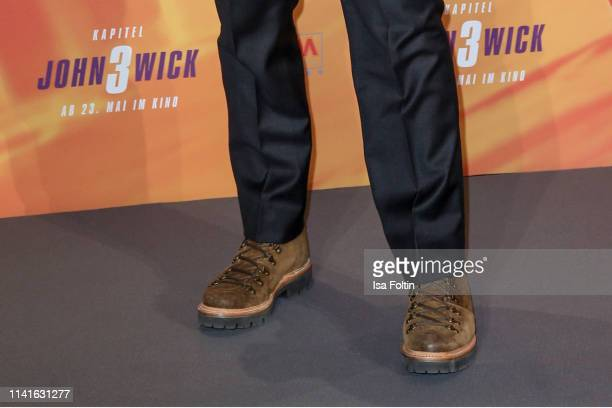 Shoes of Canadian actor Keanu Reeves as a detail during the John Wick Chapter 3 ñ Parabellum photocall at Hotel De Rome on May 6 2019 in Berlin...