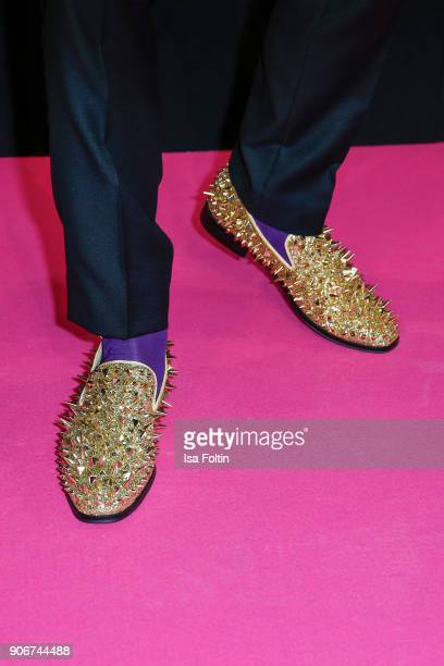 Shoes of Marcel Remus as a detail during the Maybelline Show 'Urban Catwalk Faces of New York' at Vollgutlager on January 18 2018 in Berlin Germany