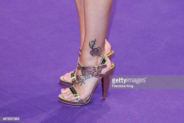 Shoes of singer Michelle at the Echo Award 2015 on March 26 2015 in Berlin Germany