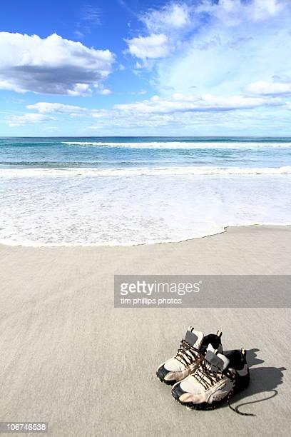 Shoes on Beach, Tasmania, Australia