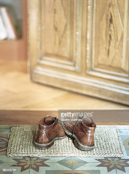Shoes on doormat