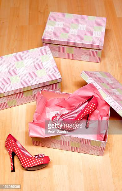 Shoes on shoes shop floor