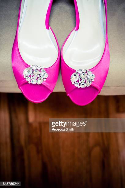 shoes - hot pink stock photos and pictures