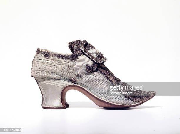 Shoes, probably British, 1700-1729. Artist Unknown.