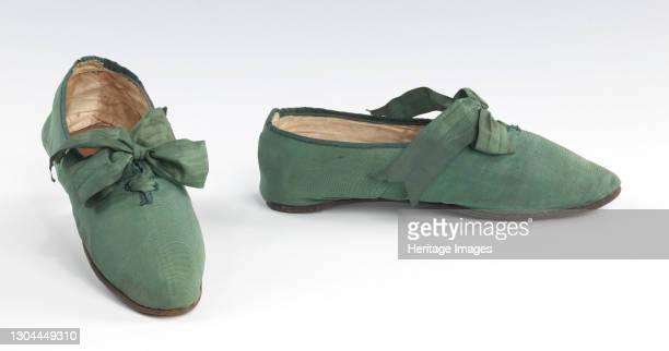 Shoes, probably British, 1810-29. Artist Unknown.