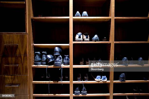 Shoes sit in the master bedroom closet in the apartment of Marc Dreier, founder of the law firm Dreier LLP sentenced to 20 years in prison for...