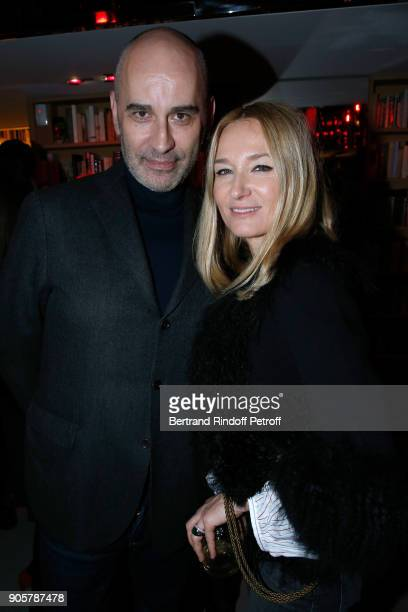 Shoes Stylist Fabrizio Viti and Artistic Director at Sonia Rykiel Julie de Libran attend the Manifesto Sonia Rykiel 5Oth Birthday Party at the...