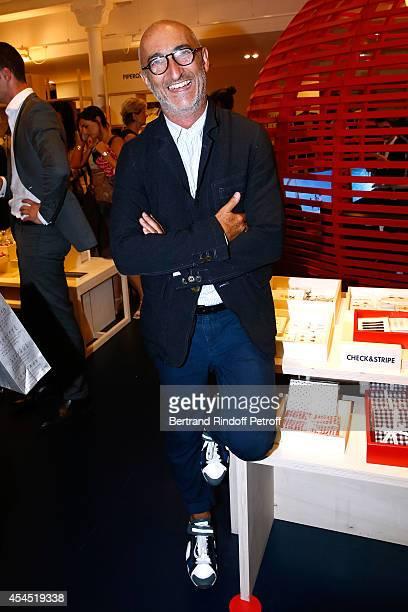 Shoes Stylist Pierre Hardy attends the 'Japan Rive Gauche' Exhibition at Le Bon Marche in Paris on September 2 2014 in Paris France