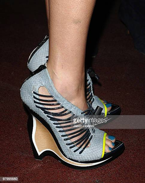 Shoes worn by actress Jessica Alba at the Tribeca Film launch event and 2010 Tribeca Film Festival celebration at Station Hollywood at W Hollywood...