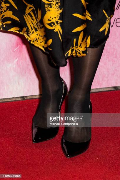 Shoes worn by Crown Princess Victoria of Sweden while arriving at Berwaldhallen to attend a concert in celebration of Berwaldhallens 40th anniversary...