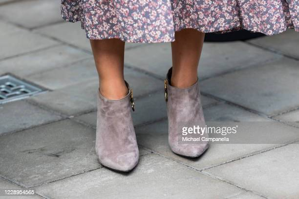 Shoes worn by Crown Princess Victoria of Sweden while attending an inauguration ceremony for a sculpture of Swedish childrens book author Astrid...
