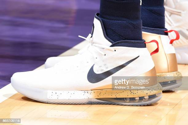 shoes worn by DeMarcus Cousins of the New Orleans Pelicans are seen during the game against the Los Angeles Lakers on October 22 2017 at STAPLES...