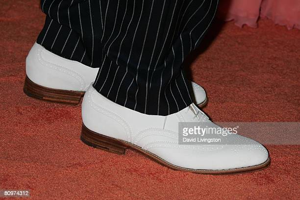 Shoes worn by fashion designer Tommy Hilfiger attending the 15th annual Race to Erase MS event at the Hyatt Regency Century Plaza Hotel on May 2 2008...