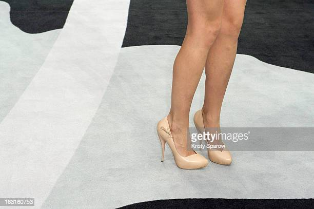 shoes worn by Leigh Lezark attending the Chanel Fall/Winter 2013/14 ReadytoWear show as part of Paris Fashion Week at Grand Palais on March 5 2013 in...