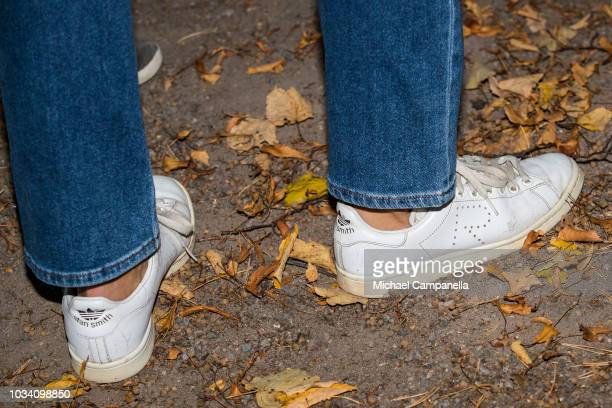 Shoes worn by Princess Victoria of Sweden during the Prince Daniels Race and Pep Day at Haga Park on September 16 2018 in Stockholm Sweden Prince...