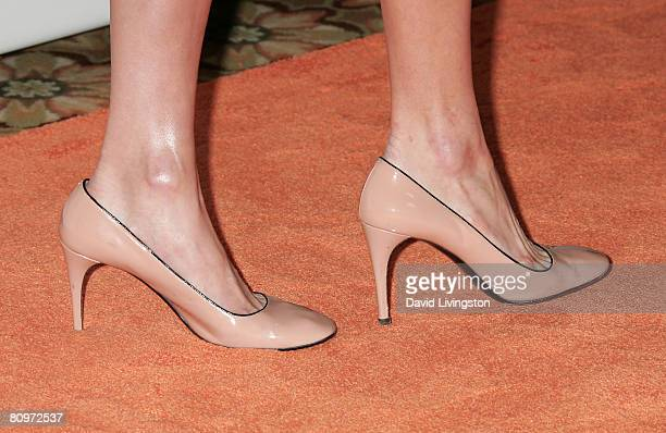 Shoes worn by socialite Paris Hilton while attending the 15th annual Race to Erase MS event at the Hyatt Regency Century Plaza Hotel on May 2 2008 in...