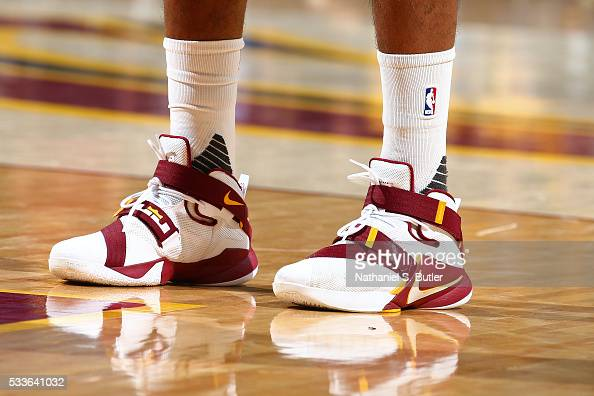 Shoes worn by Tristan Thompson of the Cleveland Cavaliers ...