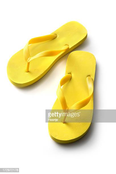 Chaussures: Jaune des tongs