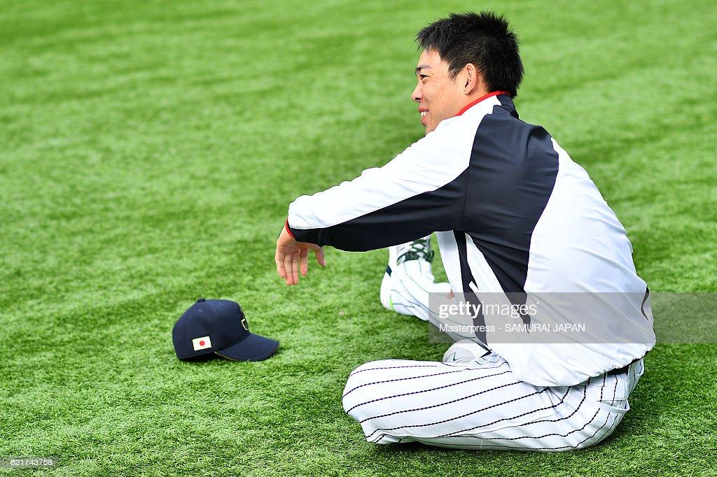 Japan National Baseball Team Practice Session