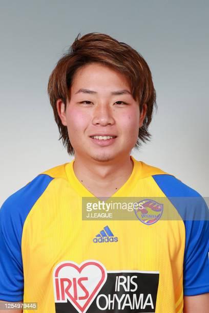 Shogo Nakahara poses for photographs during the Vegalta Sendai portrait session on January 10, 2020 in Japan.