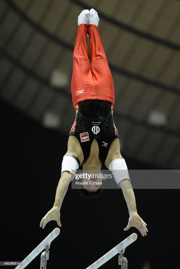 Shogo Nonomura of Japan competes on the Parallel Bars during day two of the Artistic Gymnastics NHK Trophy at Yoyogi National Gymnasium on June 8, 2014 in Tokyo, Japan.