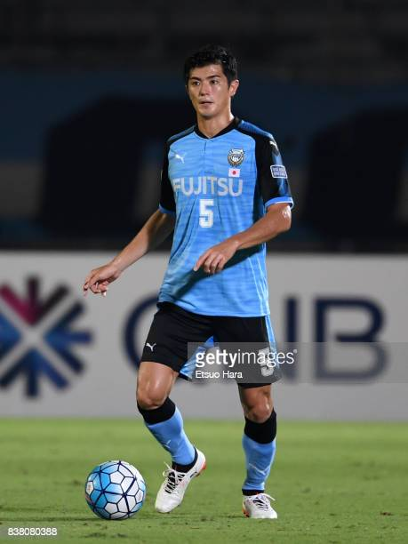 Shogo Taniguchi of Kawasaki Frontale in action during the AFC Champions League quarter final first leg match between Kawasaki Frontale and Urawa Red...