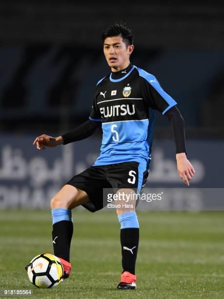 Shogo Taniguchi of Kawasaki Frontale in action during the AFC Champions League Group F match between Kawasaki Frontale and Shanghai SIPG at Todoroki...