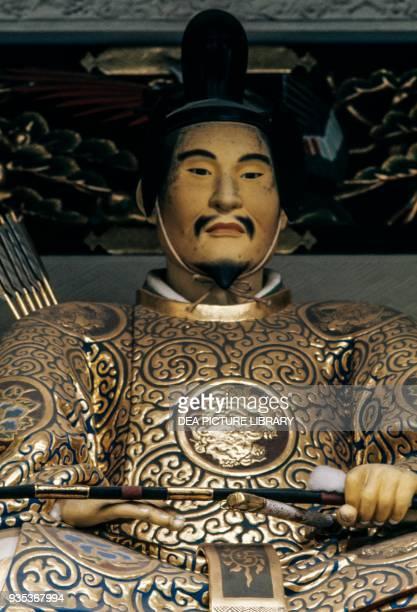Shogun Tokugawa Ieyasu statue in Toshogu shrine Nikko Tochigi Prefecture Japan