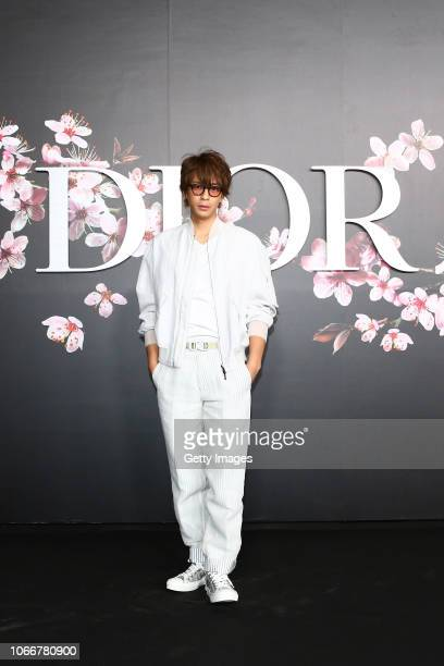 Shohei Miura attends the photocall at the Dior Pre Fall 2019 Men's Collection on November 30, 2018 in Tokyo, Japan.