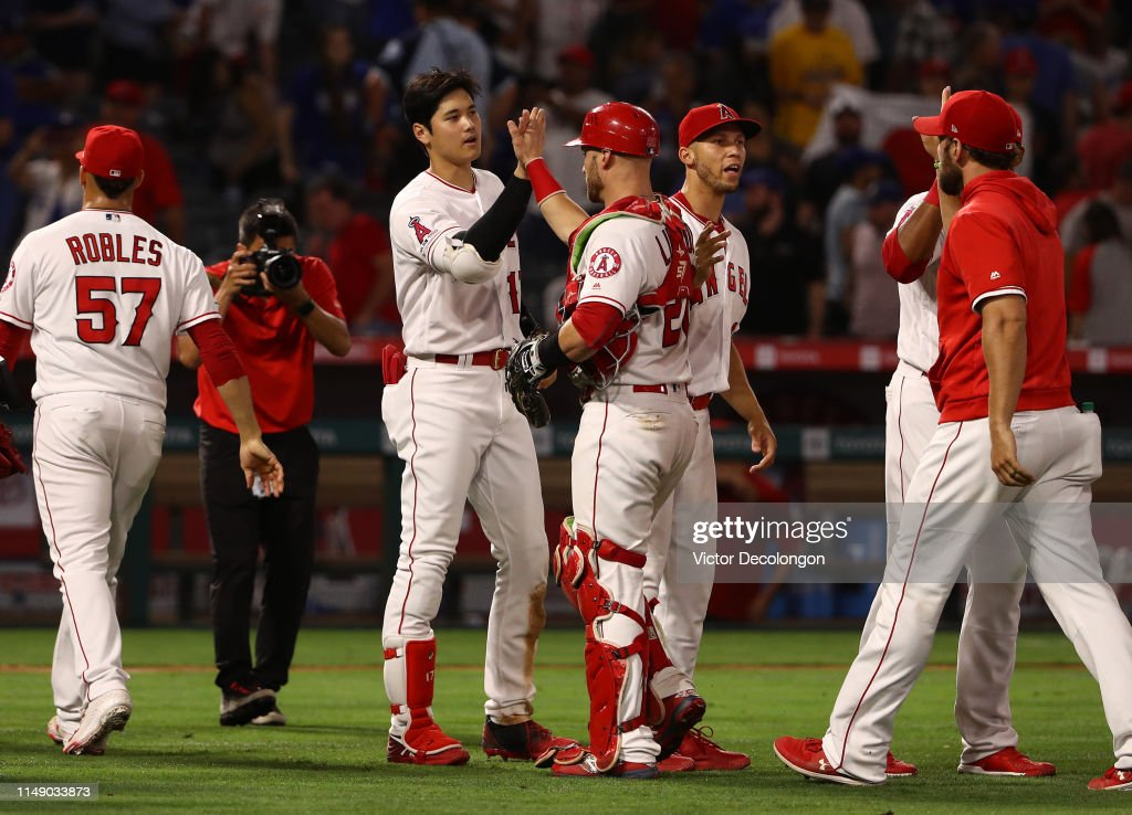 Los Angeles Dodgers v Los Angeles Angels of Anaheim : News Photo