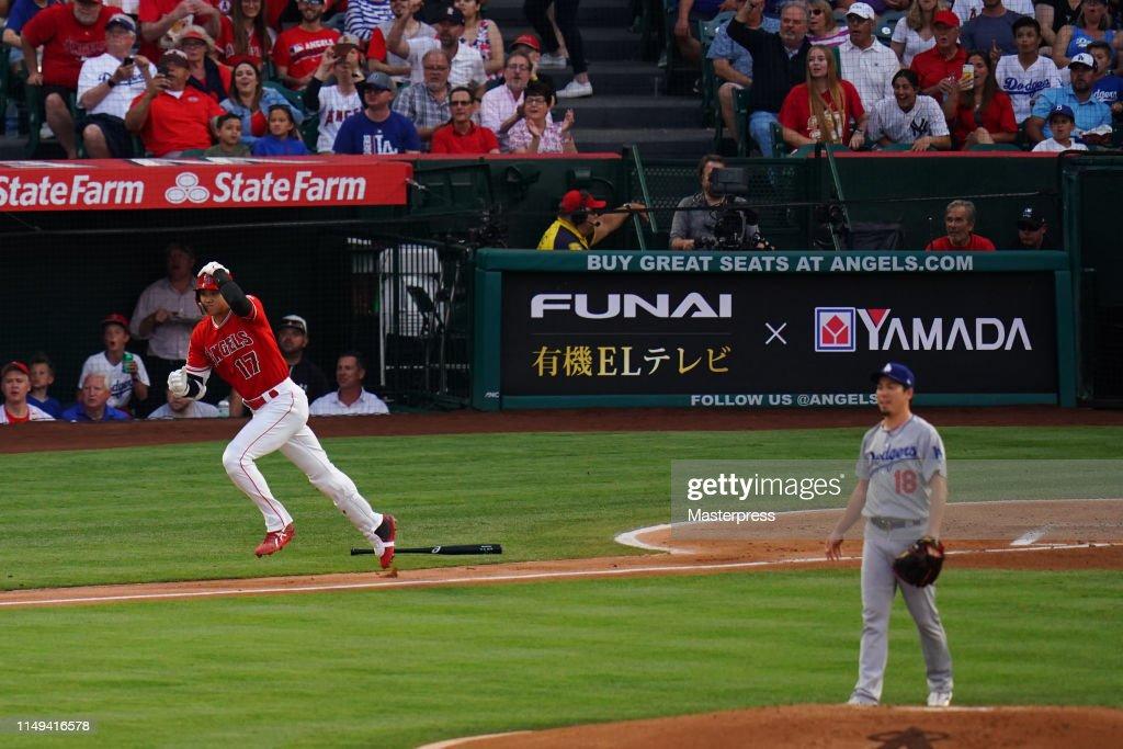 Los Angeles Dodgers v Los Angeles Angels : News Photo