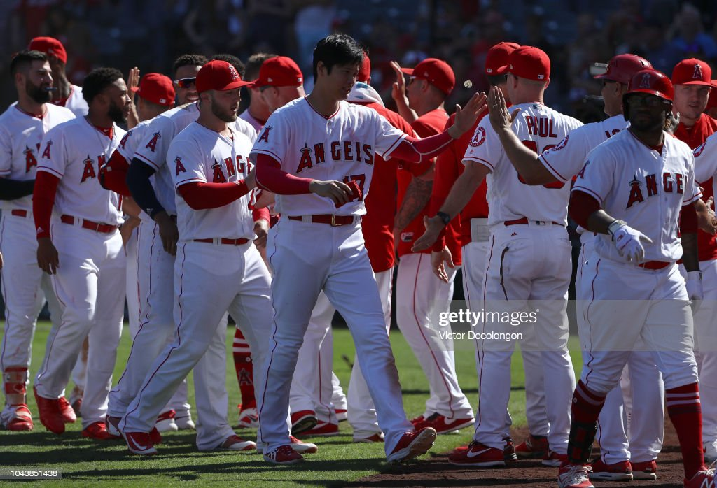 Oakland Athletics v Los Angeles Angels of Anaheim : News Photo