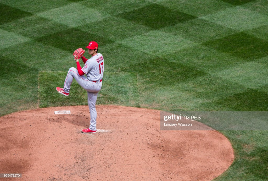 Shohei Ohtani #17 of the Los Angeles Angels of Anaheim pitches against the Seattle Mariners in the fourth inning at Safeco Field on May 6, 2018 in Seattle, Washington. The Los Angeles Angels of Anaheim won 8-2 over the Seattle Mariners.