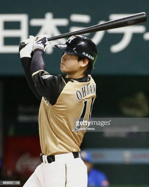 Shohei Ohtani of the Nippon Ham Fighters leads off a game against the SoftBank Hawks with a home run at Yafuoku Dome in Fukuoka on July 3 2016 ==Kyodo