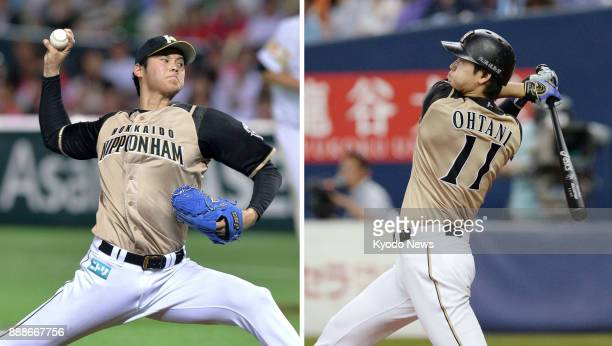 Shohei Ohtani of the Nippon Ham Fighters pitching on Aug 26 for his 10th win of the season and hitting his 10th home run of the season on Sept 7 that...