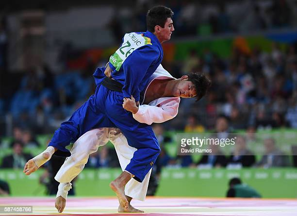Shohei Ono of Japan competes against Rustam Orujov of Azerbaijan in the Men's 73 kg Final Gold Medal Contest on Day 3 of the Rio 2016 Olympic Games...