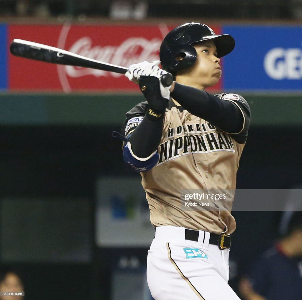 Baseball: Otani homers twice as Fighters rout Lions : News Photo
