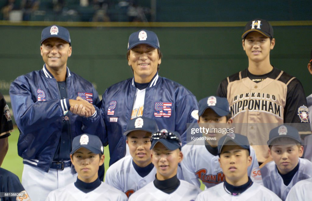 Otani, Matsui, Jeter in Tokyo event : News Photo