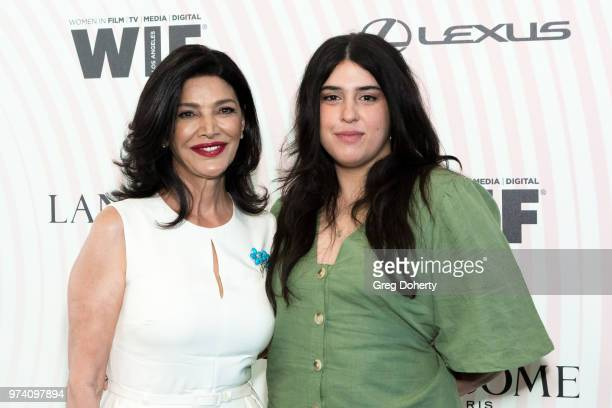 Shohreh Adhdashldo and Tara Touzie attend Women In Film 2018 Crystal Lucy Award at The Beverly Hilton Hotel on June 13 2018 in Beverly Hills...