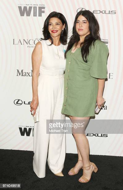 Shohreh Aghdashloo and her daughter Tara Touzie attend the Women In Film 2018 Crystal Lucy Awards held at The Beverly Hilton Hotel on June 13 2018 in...