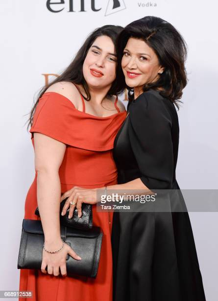 Shohreh Aghdashloo and Tara Touzie arrive to the Los Angeles premiere of 'The Promise' at TCL Chinese Theatre on April 12 2017 in Hollywood California