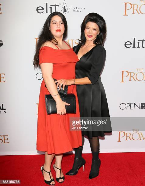Shohreh Aghdashloo and Tara Touzie attend the premiere of Open Road Films' 'The Promise' on April 12 2017 in Hollywood California