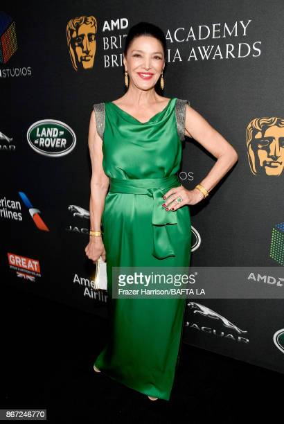 Shohreh Aghdashloo attends the 2017 AMD British Academy Britannia Awards Presented by American Airlines And Jaguar Land Rover at The Beverly Hilton...