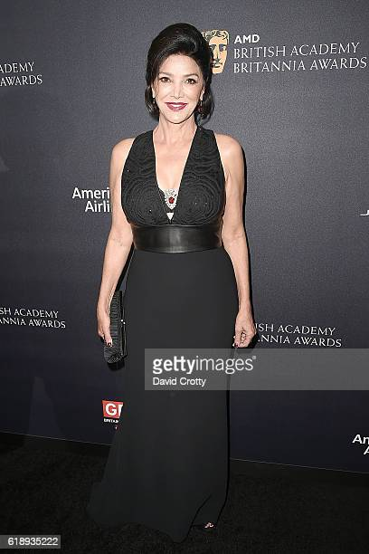 Shohreh Aghdashloo attends the AMD British Academy Britannia Awards Presented by Jaguar Land Rover and American Airlines at The Beverly Hilton Hotel...