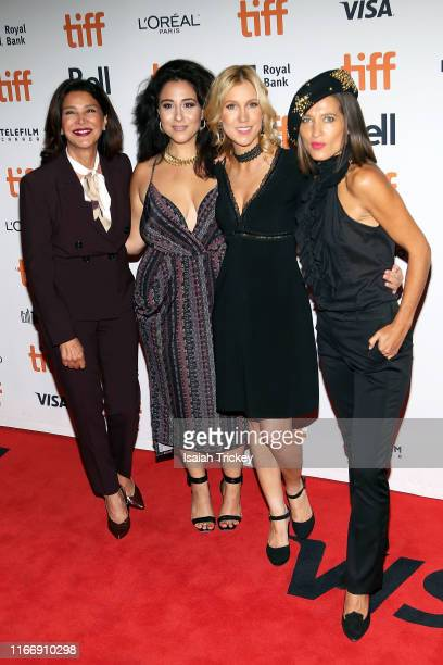 Shohreh Aghdashloo Chelsea Winstanley and guests attend the Jojo Rabbit premiere during the 2019 Toronto International Film Festival at Princess of...