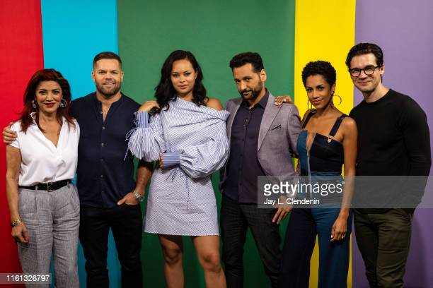 Shohreh Aghdashloo Wes Chatham Frankie Adams Cas Anvar Dominique Tipper and Steven Strait of 'The Expanse' are photographed for Los Angeles Times at...
