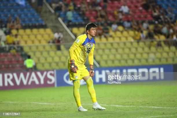 Shohrukh Qirghizboev of Tajikistan during the FIFA U17 World Cup Brazil 2019 Group E match between Argentina and Tajikistan at Estadio Kleber Andrade...