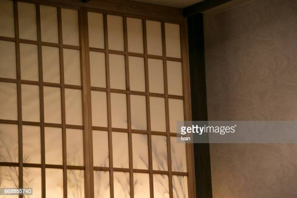 shoji (paper door), japanese paper screen window - 和室 ストックフォトと画像