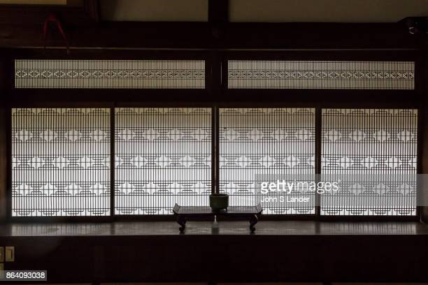 Shoji Paper Windows In traditional Japanese architecture a shoji is a door window or room divider made of translucent paper over a frame of wood or...