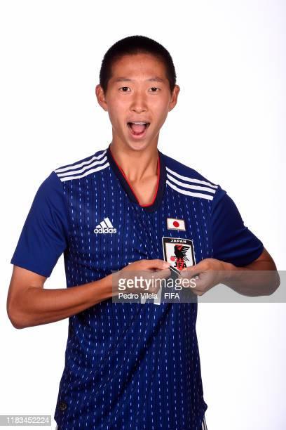 Shoji Toyama poses during the U17 Japan team presentation on October 24 2019 in Vitoria Brazil